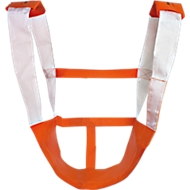 Reddingsstoel KOMBI, stevige klittenbandsluiting, oranje