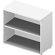 Regal ARLON OFFICE, 2 Ordnerhöhen, B 900 x T 450 x H 816 mm, weiß/weiß