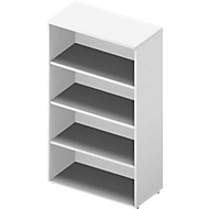 Regal ARLON OFFICE, 4 Ordnerhöhen, 3 variable Fachböden, B 900 x T 450 x H 1600 mm, weiß/weiß