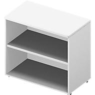Regal ARLON OFFICE, Tischhöhe, 1 variabler Fachboden, B 800 x T 450 x H 730 mm, weiß/weiß