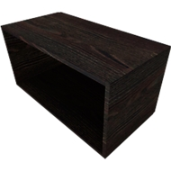 Regal QUANDOS BOX, 1 Ordnerhöhe, B 1000 x T 420 x H 374 mm, Mooreiche
