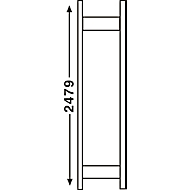 Regalsystem R 3000, Rahmen, H 2490 x T 300 mm