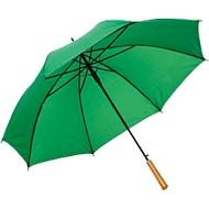 Regenschirm LIMBO, 170T Kunststoff, Griff in Holzoptik, Öffnungsautomatik, grün