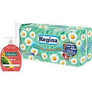 Regina wc-papier 16 rollen á 150 vellen, 3-laags + Palmolive vloeibare zeep GRATIS