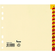 Register A-Z, Karton, chamois, halbe Höhe, Tabe mit Folie verstärkt