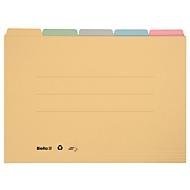 Registermappen, DIN A4, farbig, 5 Stück