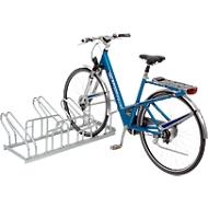 Reihen-Bügelparker, für Fahrräder, einseitig, fertig montiert, 3 Einstellplätze