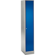 Reihen-Garderobe, hellsilber/enzianblau
