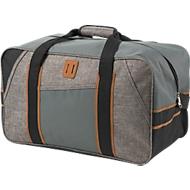 Reisetasche URBAN, grau, 600D Kunststoff, Reißverschlussfach, verstellbarer Schultergurt, grau