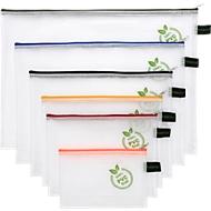 Reißverschlussbeutel FolderSys, mit Halteschlaufe, PVC-frei, EVA-Folie transparent, 6 Stück in Format A4-B6