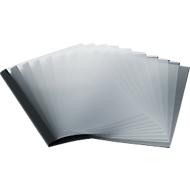 Reliures SSI à structure cuir, 1,5 mm, noir, 50 p.