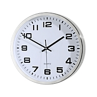 Reloj de pared de cuarzo de acero inoxidable, redondo, ø 300 mm