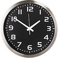 Reloj de pared de cuarzo, negro