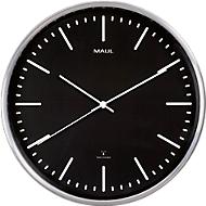 Reloj de pared MAUL MAULfly, diámetro 30cm, Reloj radiocontrolado, negro