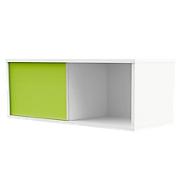 REMO LIGHT schuifdeurkast, 1 OH, B 1000 x D 400 x H 360 mm, wit/groen