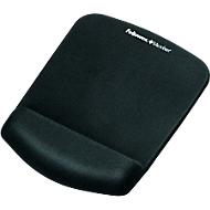 Repose-poignet pour tapis de souris Fellowes PlushTouch, antidérapant, ergonomique, noir
