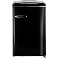Retro-Kühlschrank RKS 120-16 RV A++, 121 l, B 550 x T 615 x H 875 mm, matt-schwarz