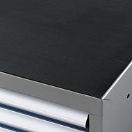 Riffelgummi-Auflage für Werkzeugschrank WSK, schwarz, 1023 x 725 mm