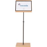 Rocada Natural hoog bureau, voor formaat A3 portret/landschap, met magnetische documenthouder, B 400 x D 300 x H 1000-1320 mm