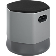 rocada Soft Seating Sitzhocker 3D, Ø 450 x H 440-560 mm, höhenverstellbar, flammenhemmend, grau