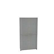 Roldeurkast, 2-delig, 6 OH, B 1200 x D 450 x H 2300 mm, zilverkleurig