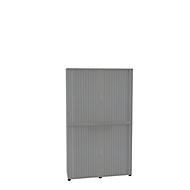 Roldeurkast, 2-delig, 6 OH, B 1350 x D 450 x H 2300 mm, zilver