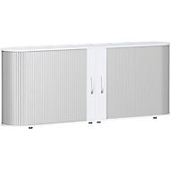 Roldeurkast met dwarse roldeuren Alicante, B 2000 x D 400 x H 828 mm, wit
