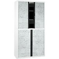 Roldeurkast, roldeuren grijs gespikkeld, hoogte 2040 mm