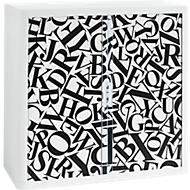 Roldeurkast, roldeuren letters, hoogte 1040 mm