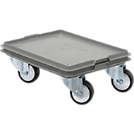 Roll-Fix, kunststof wielen, grijs, 400 x 300 x 125 mm