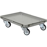 Roll-Fix, Kunststoff-Rollen, grau, 600 x 400 x 125 mm