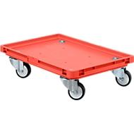 Roll-Fix, Kunststoff-Rollen, rot, 600 x 400 x 125 mm