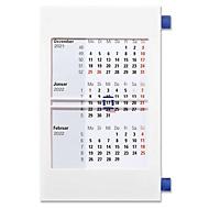 Roll-Top-Tischkalender, mit Datumsweiser, B 120 x H 180 mm, Werbedruck 100 x 23 mm, weiß