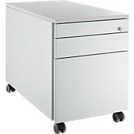 Rollcontainer 126, 3 Schubladen, lichtgrau/lichtgrau/lichtgrau