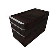 Rollcontainer QUANDOS BOX, 1 + 1 Schub, HR-Auszug, B 430 x T 800 x H 570 mm, Mooreiche