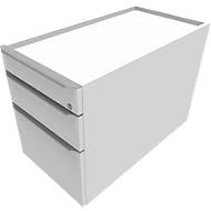Rollcontainer QUANDOS BOX, 1 + 1 Schub, HR-Auszug, B 430 x T 800 x H 570 mm, weiß