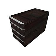 Rollcontainer QUANDOS BOX, 1 + 3 Schübe, B 430 x T 800 x H 570 mm, Mooreiche
