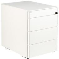 Rollcontainer SOLUS, 1+3 Schübe, H 562 x B 430 x T 600 mm, weiß