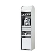 Rollladen-Kaffeeschrank, abschließbar, alusilber, B 500 x H 2020 mm