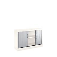 Rollladenschränke MS iCOLOUR, 2 Ordnerhöhen, B 1200 mm, weiß/alusilber