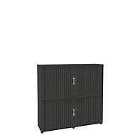 Rollladenschrank, 4 OH, 2teilig, mit Mitteltrennwand, B 1600 mm, graphit