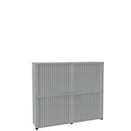Rollladenschrank, 4 OH, 2teilig, mit Mitteltrennwand, B 1800 mm, lichtgrau
