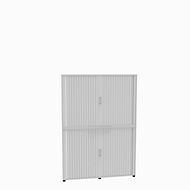 Rollladenschrank, 6 OH, 2teilig, mit Mitteltrennwand, B 1600 mm, weiß