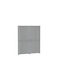 Rollladenschrank, 6 OH, 2teilig, mit Mitteltrennwand, B 1800 mm, lichtgrau