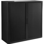 Rollladenschrank, H 1040 mm, schwarz/schwarz