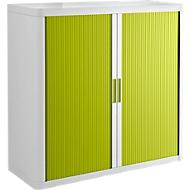 Rollladenschrank, H 1040 mm, weiß/grün