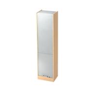 Rollladenschrank TARVIS, 5 Ordnerhöhen, abschließbar, B 500 x T 400 x H 2004 mm, Ahorn-Dekor/alusilber