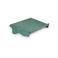 Ronde-lijn documenthouder Bakker Elkhuizen Q-doc 100, 60% gerecycled materiaal, B 455 x D 290 x H 95 mm, groen
