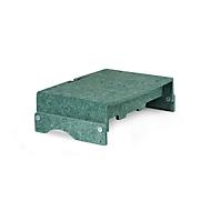 Ronde-lijn monitorstandaard BakkerElkhuizen Q-riser 110, gemaakt van 60% gerecycled materiaal, B 375 x H 75 x D 250 mm, groen
