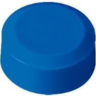 Ronde magneten MAUL, kunststof & metaal, fijne structuur, hechtkracht 170 g, Ø 15 x 7,5 mm, blauw, 20 stuks